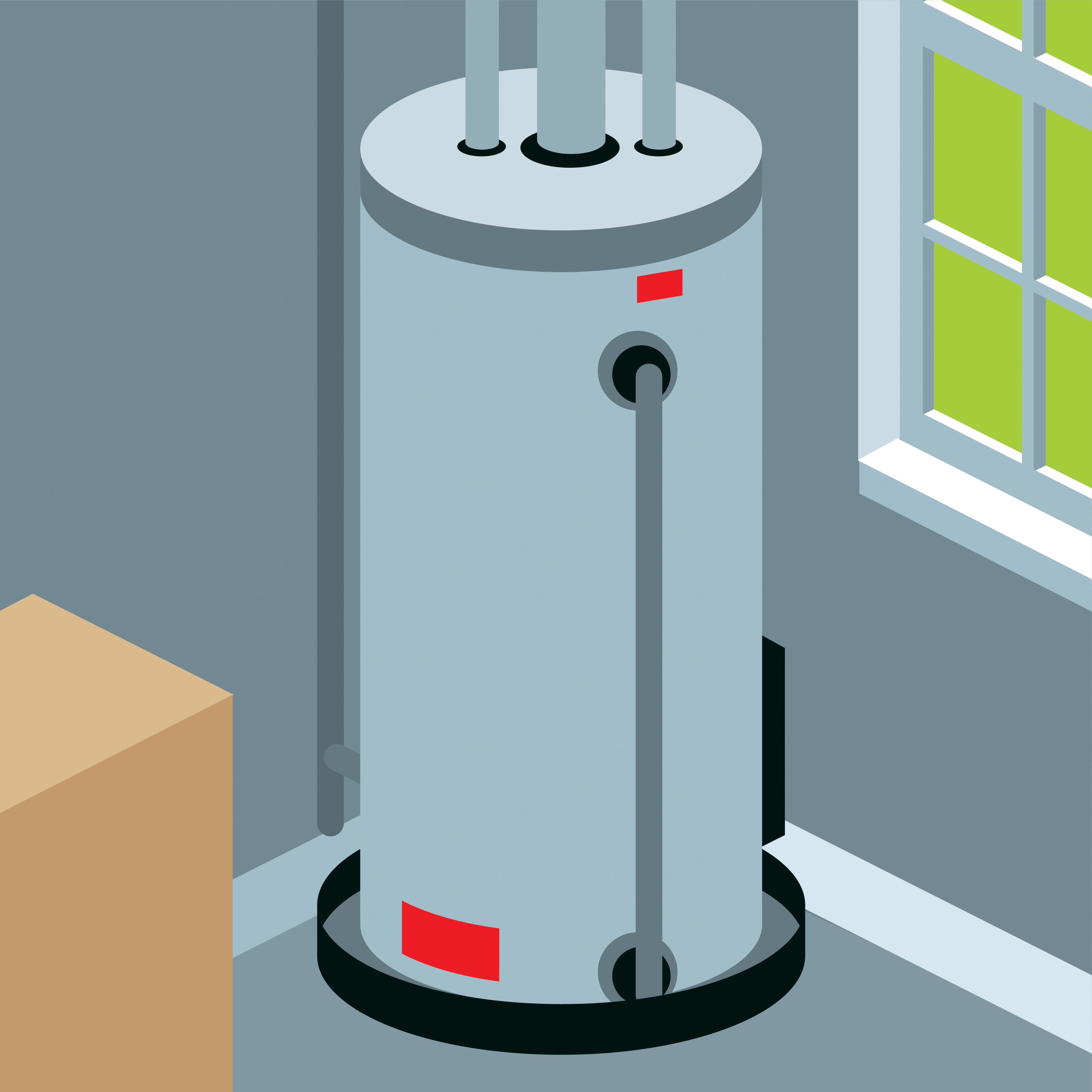 graphic of water heater